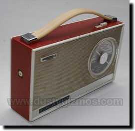 2x Vintage Rendar Control Knob 70`s Slimline Brass Insert -NOS Radio Grey